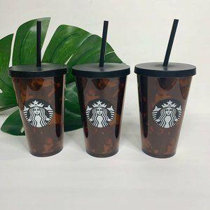 New Starbucks Cold Cups 16oz Grande Tortoise Shell